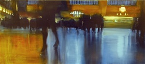 nyc, grand central station by david allen dunlop (sold)