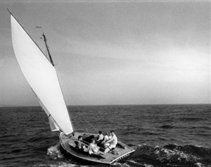 the kennedy family sailing on nantucket sound, 1959 by mark shaw