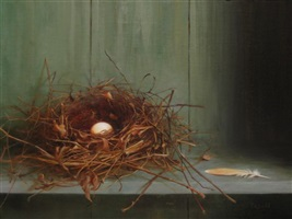 nest on shelf by rosemary ladd (sold)
