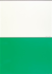 predominantly green and predominantly white (diptych) by dan flavin
