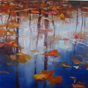 leaf water by david allen dunlop (sold)