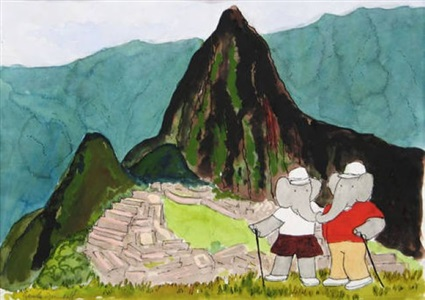 laurent de brunhoff and jean de brunhoff the art of babar - watercolors, drawings prints by laurent de brunhoff