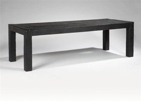 smoke dining table by maarten baas