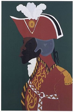 the life of toussaint l'ouverture series - the general by jacob lawrence