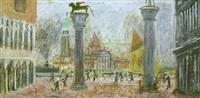 venedig, blick von der piazzetta auf san giorgio by max peiffer watenphul