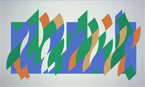 wall painting 1 (print) by bridget riley