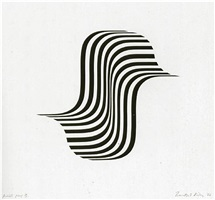 untitled (winged curve) by bridget riley