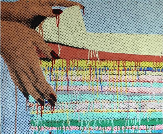 hands folding by marilyn minter