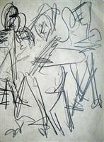 skizze zu bauerntanz by ernst ludwig kirchner