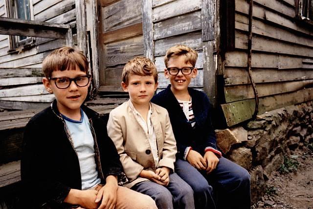 three boys posing by mark cohen