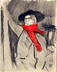 portrait of aristide bruant by henri de toulouse-lautrec