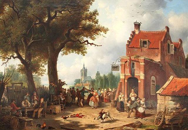 la fête du village by jacques françois carabain