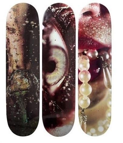 supreme skatedecks set of 3 by marilyn minter