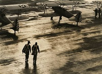 pilots on tarmac by horace bristol