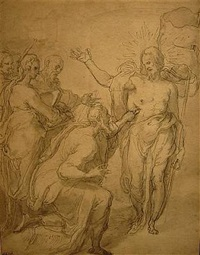 the incredulity of saint thomas by taddeo zuccaro