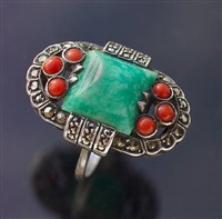 art deco ring by theodor fahrner (co.)