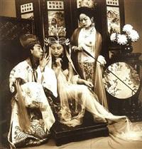 peking opera - self portrait by liu zheng
