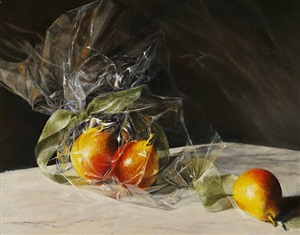 wrapped pears by cora ogden (sold)