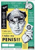 penis cop (public service/aid) by art chantry
