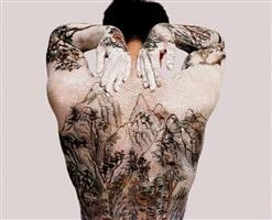 tattooo-chinese landscape by huang yan