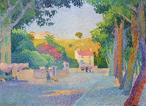 place des lices a saint tropez by henri person
