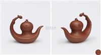 teapot in the pattern of moon palace by jiang jun and ji yishun