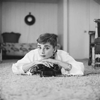 audrey hepburn at home, shot for the dec. 7, 1953 issue of life magazine by mark shaw