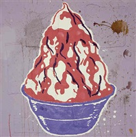 red sundae (the blue bowl) by donald baechler