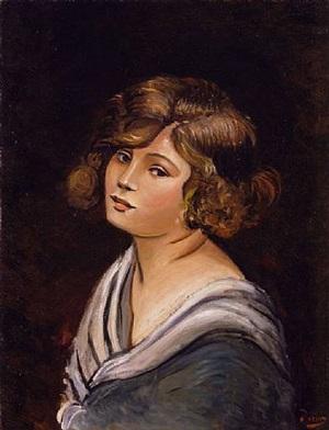portrait de jeune femme by andré derain