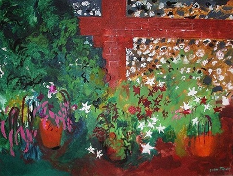 flowers on the terrace by john piper