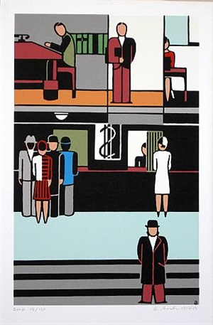bank by gerd arntz