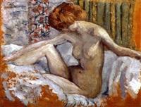 marthe nue sur son lit by pierre bonnard
