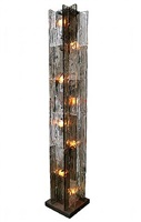 mazzega glass column floor lamp by mazzega
