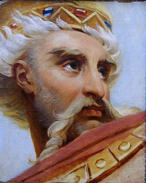 head of charlemagne by antoine jean (baron gros) gros