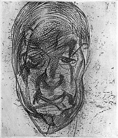 lawrence gowing (2nd version) by lucian freud