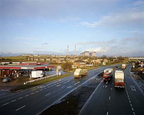 ferrybridge powerstation, west yorkshire, november 1982 , from the series a1 – the great north road by paul graham