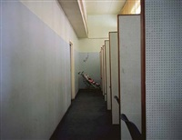 baby and interview cubicles, brixton dhss, soth london, 1984, from the series beyond caring by paul graham