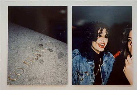 untitled, spain, 1988, (spit on franco's grave, laughing worman) from the series new europe by paul graham