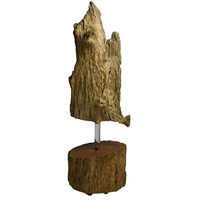 weathered cedro wood sculpture by zanini de zanine caldas