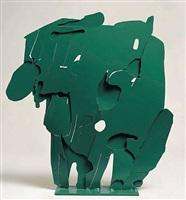 ferro trasparente verde, saluto alla pittura by pietro consagra