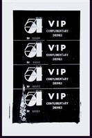 studio 54 complimentary drink invitation by andy warhol