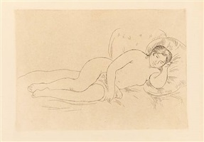 nude woman reclining, facing right (cassirer edition 1909) by pierre-auguste renoir