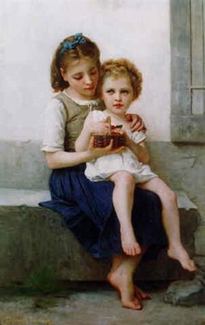 les cerisis (sisters) by elizabeth jane gardner bouguereau