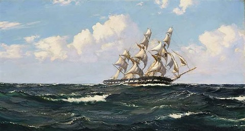 the atlantic packet albion by montague dawson