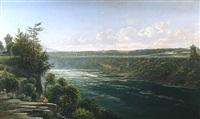 suspension bridge over the niagara river by ferdinand richardt