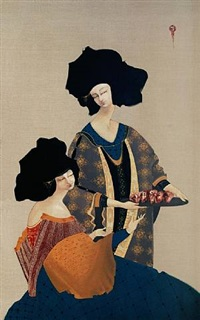 heads on plate by hayv kahraman