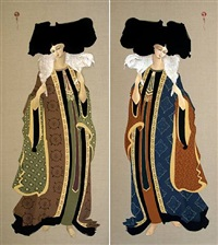 carrying on shoulder 1 & carrying on shoulder 2 by hayv kahraman