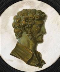 portrait d'un empereur de profil by piat joseph sauvage