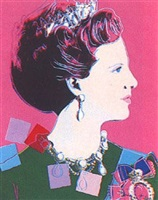 reigning queens: queen margrethe by andy warhol