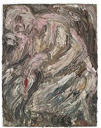portrait of mother asleep by leon kossoff